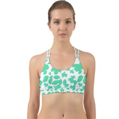 Botanical Motif Print Pattern Back Web Sports Bra