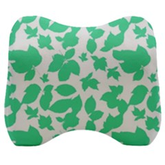 Botanical Motif Print Pattern Velour Head Support Cushion