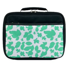 Botanical Motif Print Pattern Lunch Bag