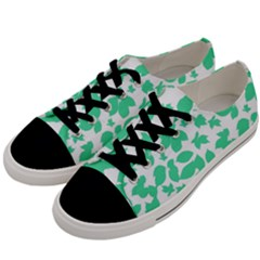 Botanical Motif Print Pattern Men s Low Top Canvas Sneakers