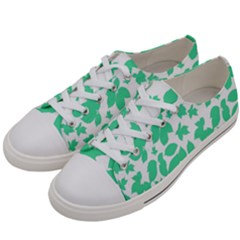 Botanical Motif Print Pattern Women s Low Top Canvas Sneakers