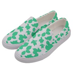 Botanical Motif Print Pattern Men s Canvas Slip Ons