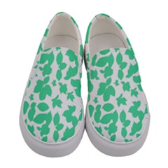 Botanical Motif Print Pattern Women s Canvas Slip Ons