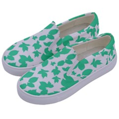 Botanical Motif Print Pattern Kids  Canvas Slip Ons