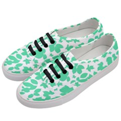 Botanical Motif Print Pattern Women s Classic Low Top Sneakers