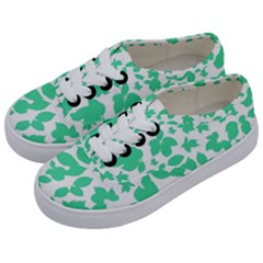 Botanical Motif Print Pattern Kids  Classic Low Top Sneakers