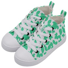 Botanical Motif Print Pattern Kids  Mid-Top Canvas Sneakers