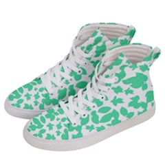 Botanical Motif Print Pattern Women s Hi-Top Skate Sneakers