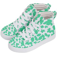 Botanical Motif Print Pattern Kids  Hi-Top Skate Sneakers