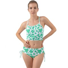 Botanical Motif Print Pattern Mini Tank Bikini Set