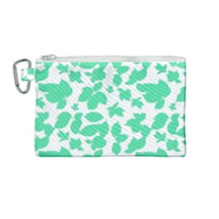 Botanical Motif Print Pattern Canvas Cosmetic Bag (Medium)