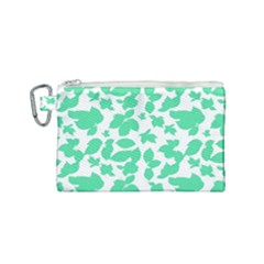 Botanical Motif Print Pattern Canvas Cosmetic Bag (Small)