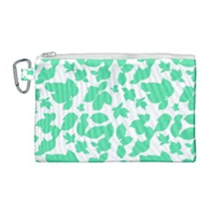 Botanical Motif Print Pattern Canvas Cosmetic Bag (Large)