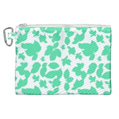 Botanical Motif Print Pattern Canvas Cosmetic Bag (XL)