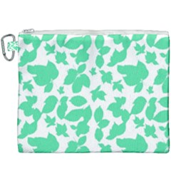 Botanical Motif Print Pattern Canvas Cosmetic Bag (XXXL)