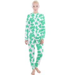 Botanical Motif Print Pattern Women s Lounge Set