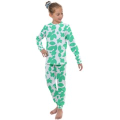 Botanical Motif Print Pattern Kids  Long Sleeve Set