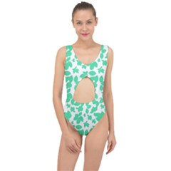 Botanical Motif Print Pattern Center Cut Out Swimsuit