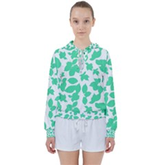 Botanical Motif Print Pattern Women s Tie Up Sweat
