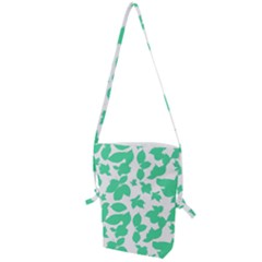 Botanical Motif Print Pattern Folding Shoulder Bag