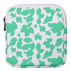 Botanical Motif Print Pattern Mini Square Pouch