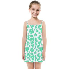 Botanical Motif Print Pattern Kids  Summer Sun Dress
