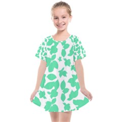 Botanical Motif Print Pattern Kids  Smock Dress