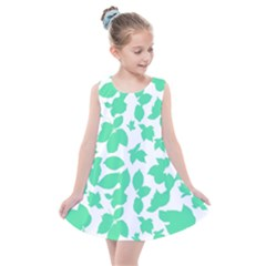 Botanical Motif Print Pattern Kids  Summer Dress