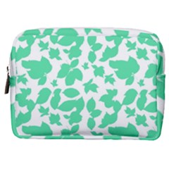 Botanical Motif Print Pattern Make Up Pouch (Medium)