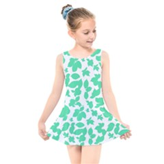 Botanical Motif Print Pattern Kids  Skater Dress Swimsuit