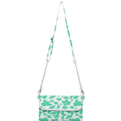 Botanical Motif Print Pattern Mini Crossbody Handbag