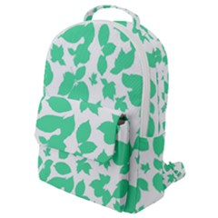 Botanical Motif Print Pattern Flap Pocket Backpack (Small)