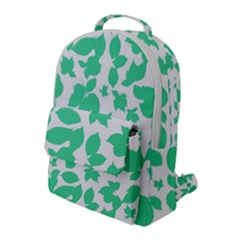 Botanical Motif Print Pattern Flap Pocket Backpack (Large)