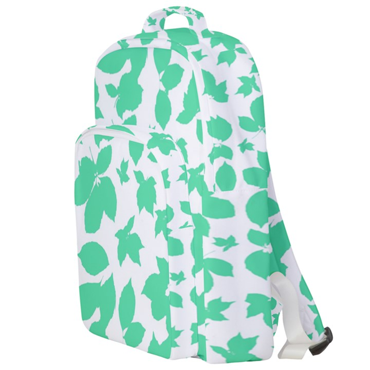 Botanical Motif Print Pattern Double Compartment Backpack