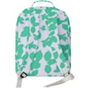 Botanical Motif Print Pattern Double Compartment Backpack View3