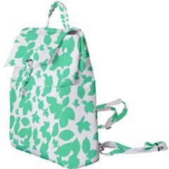 Botanical Motif Print Pattern Buckle Everyday Backpack