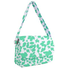 Botanical Motif Print Pattern Courier Bag