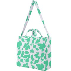 Botanical Motif Print Pattern Square Shoulder Tote Bag