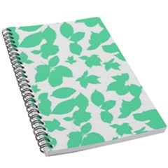 Botanical Motif Print Pattern 5.5  x 8.5  Notebook