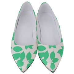 Botanical Motif Print Pattern Women s Low Heels