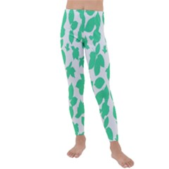Botanical Motif Print Pattern Kids  Lightweight Velour Leggings