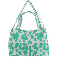 Botanical Motif Print Pattern Double Compartment Shoulder Bag