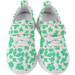 Botanical Motif Print Pattern Kids  Velcro Strap Shoes