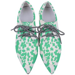 Botanical Motif Print Pattern Pointed Oxford Shoes