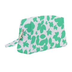 Botanical Motif Print Pattern Wristlet Pouch Bag (Medium)