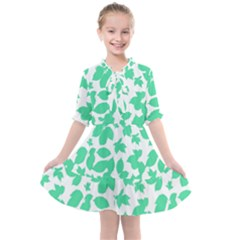 Botanical Motif Print Pattern Kids  All Frills Chiffon Dress