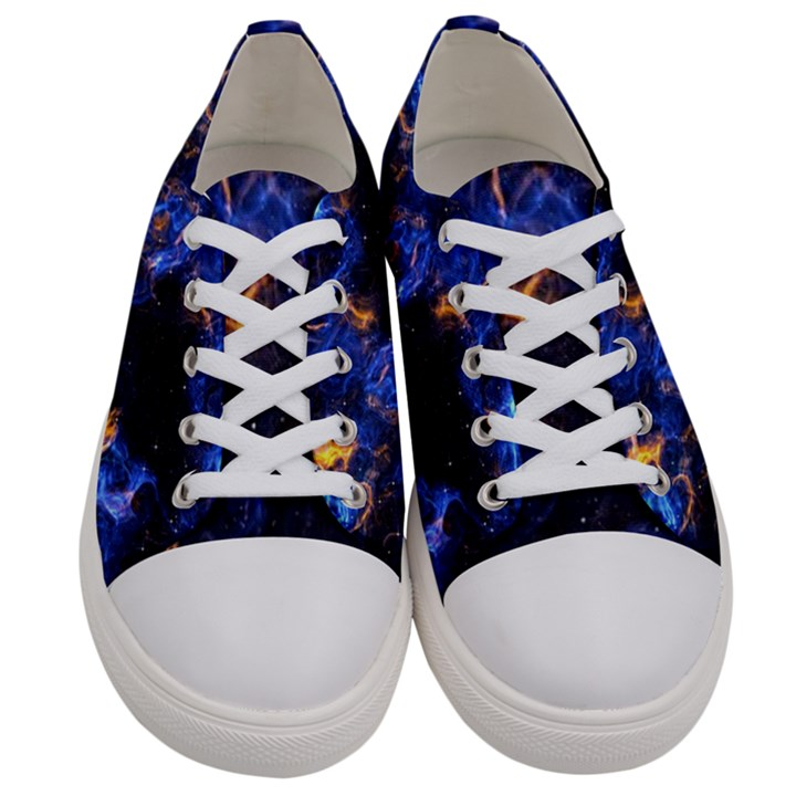 Universe Exploded Women s Low Top Canvas Sneakers