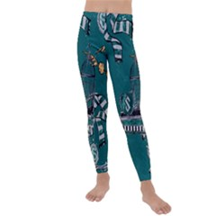 Slytherin Pattern Kids  Lightweight Velour Leggings by Wmcs91