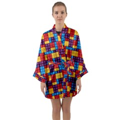 Lego Background Game Long Sleeve Kimono Robe