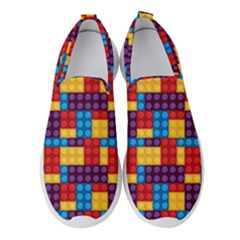 Lego Background Game Women s Slip On Sneakers by Mariart